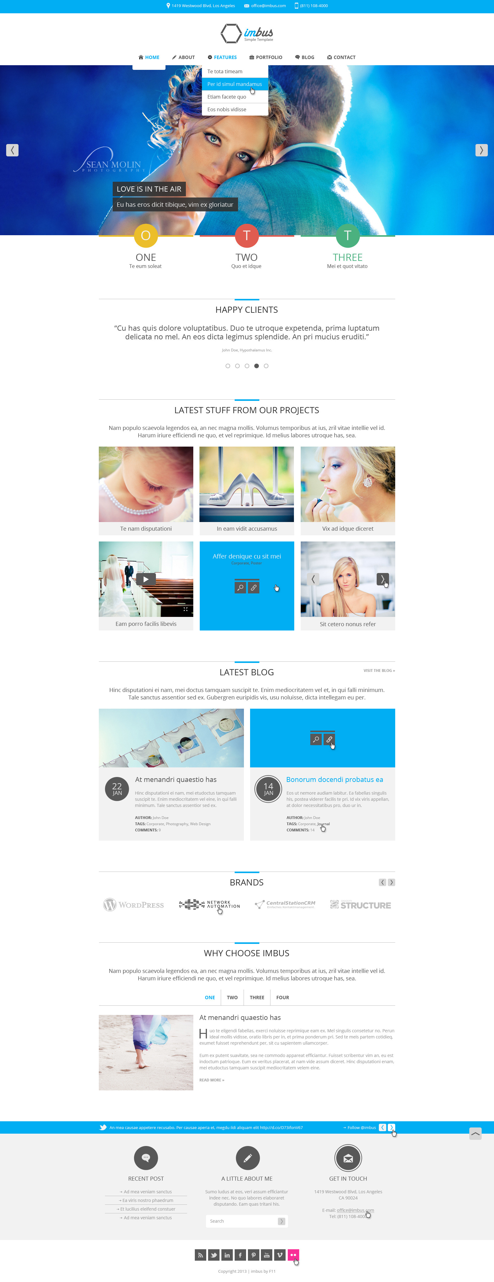 imbus - Simple PSD Template - imbus - Simple PSD Template.  Home multipurpose inspiration - blue.