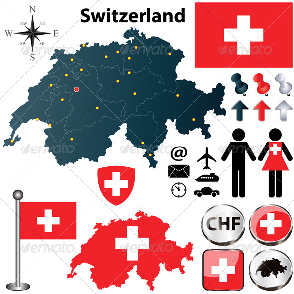 GraphicRiver Map of Switzerland 4472429