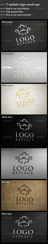 GraphicRiver 7 Realistic Logo Mock-Ups 4424039