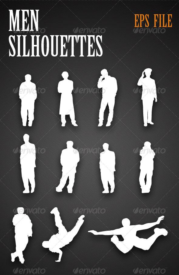 GraphicRiver Men Silhouettes 4473302