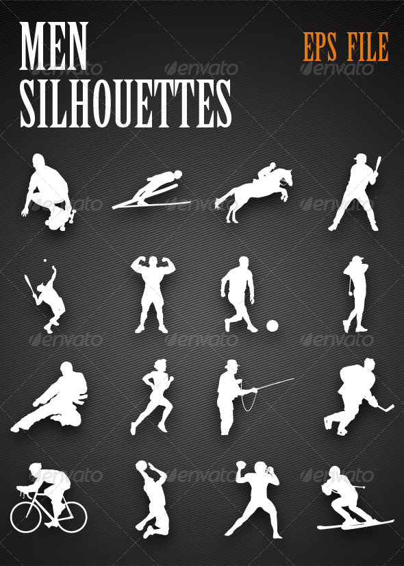 GraphicRiver Sports Silhouettes 4473397