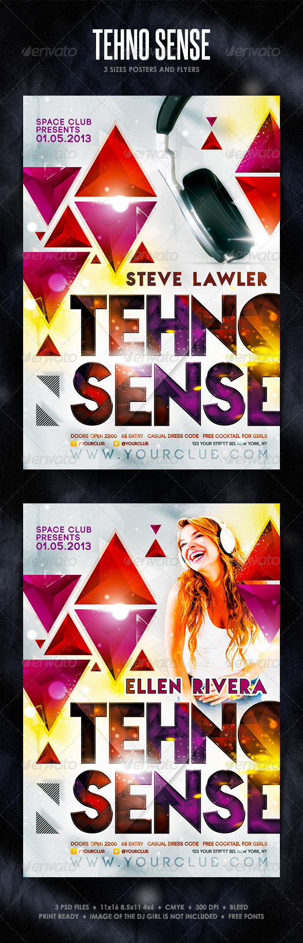 GraphicRiver Tehno Sense Posters and Flyers 4473558
