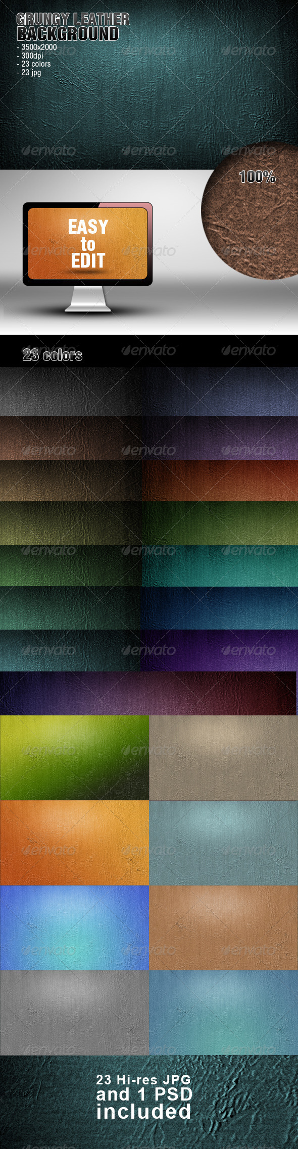 GraphicRiver Grungy Leather Background 4473893