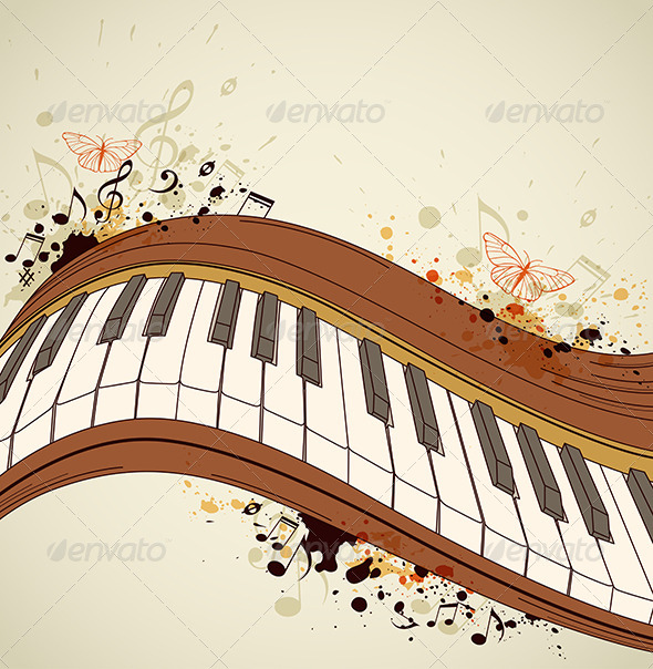 GraphicRiver Piano and Notes 4474028