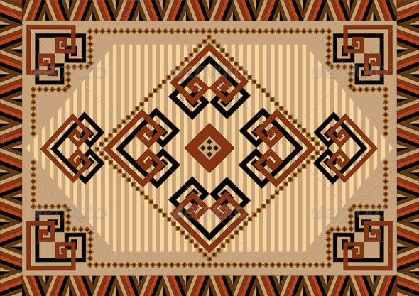 Decorative Carpet Designs in Oriental Sytle - Stock Photo - Images