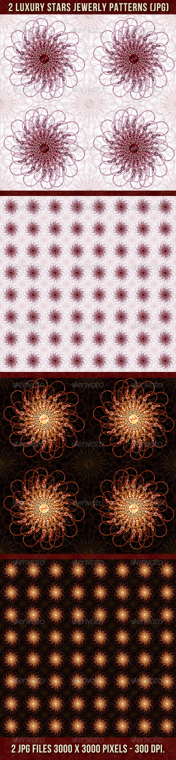 GraphicRiver 2 Luxury Stars Jewerly Patterns Backgrounds 4474423