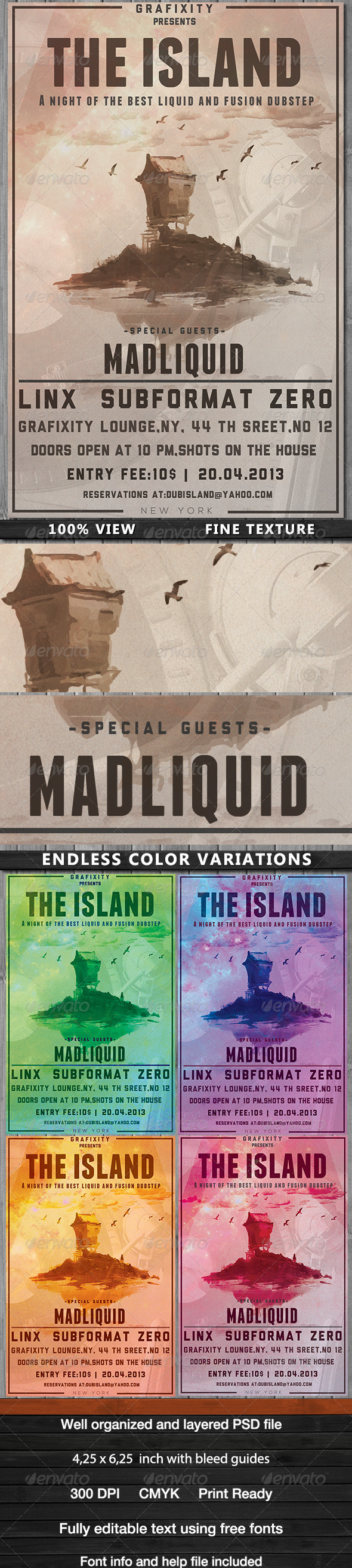 GraphicRiver The Island Dub Chillout Poster Flyer 4363238