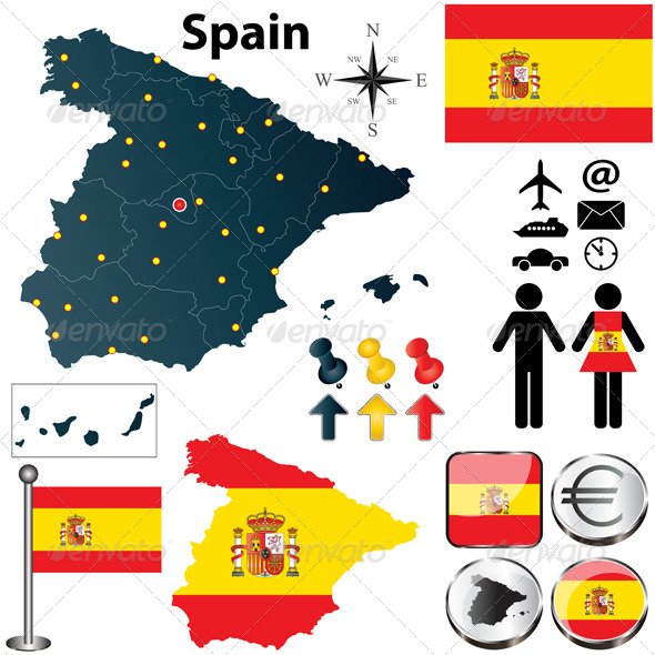 GraphicRiver Map of Spain 4474696