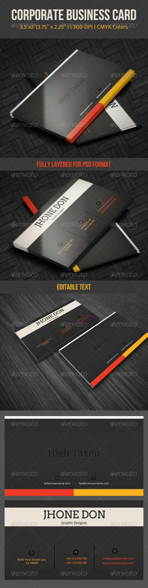 GraphicRiver Corporate Business Card 4474796