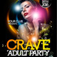 Crave Party Flyer Template - GraphicRiver Item for Sale