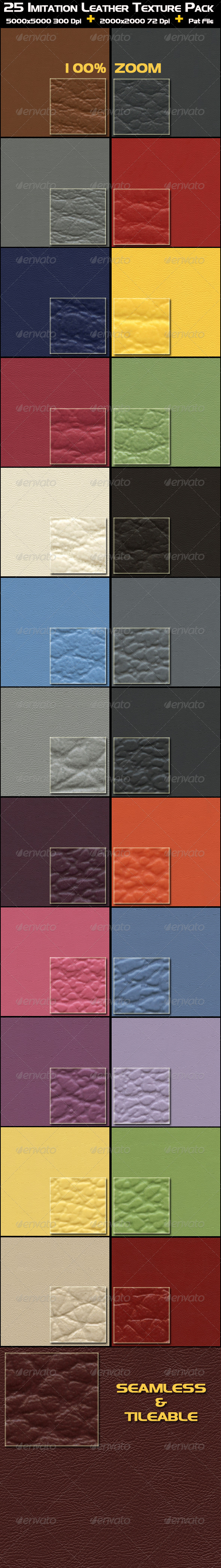 GraphicRiver 25 Imitation Leather Texture Pack 4475307