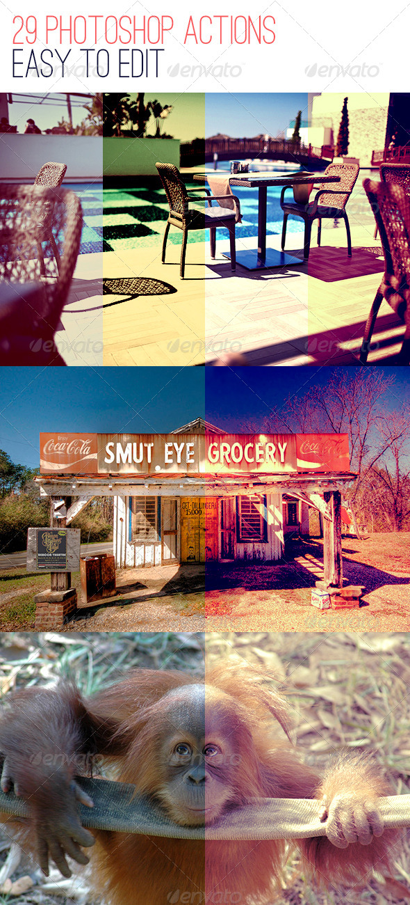 GraphicRiver 29 Photoshop Photo Actions 4475559