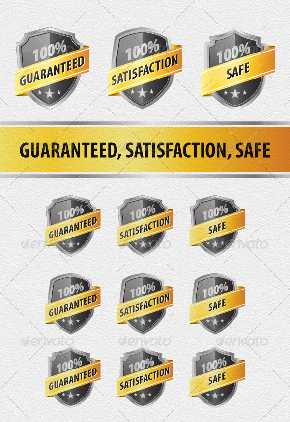 GraphicRiver 9 Guaranteed Satisfaction and Safe Shields 4475614