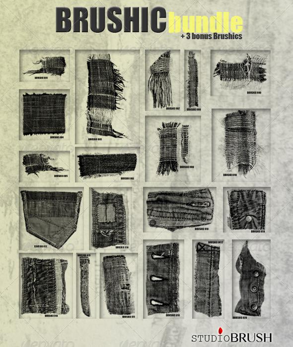 GraphicRiver Brushic Bundle plus 3 Bonus Brushes 4475616