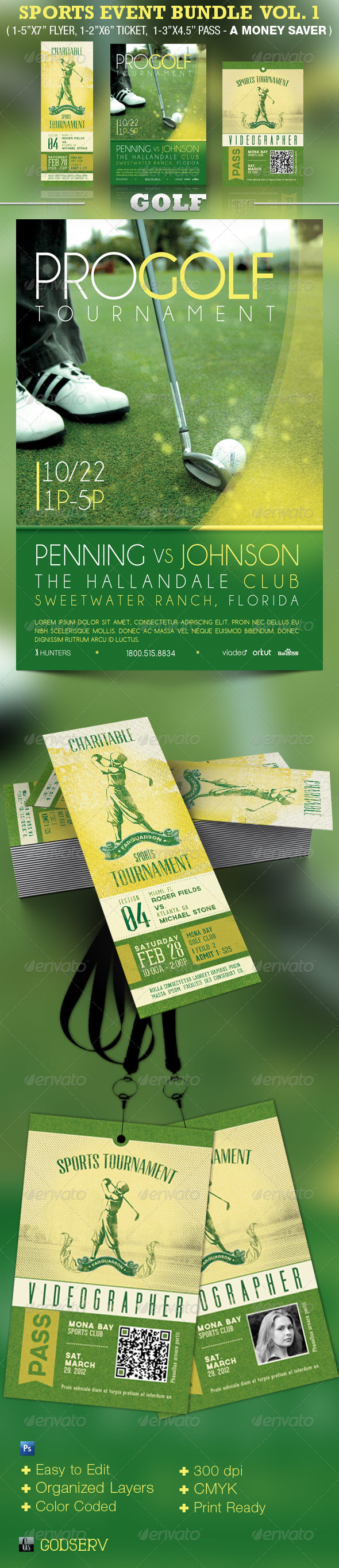 Sports Event Template Bundle Vol 1: Golf - Sports Events