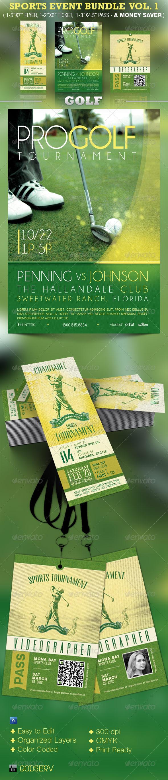 Sports Event Template Bundle Vol 1: Golf - Sports Events