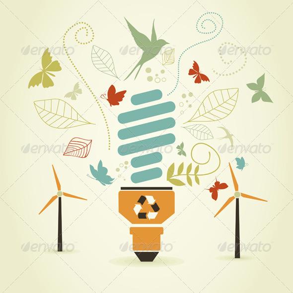 GraphicRiver Energy Saving Bulb 4475729