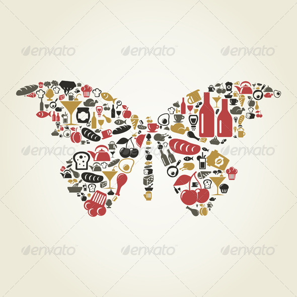 GraphicRiver Food Butterfly 4475741