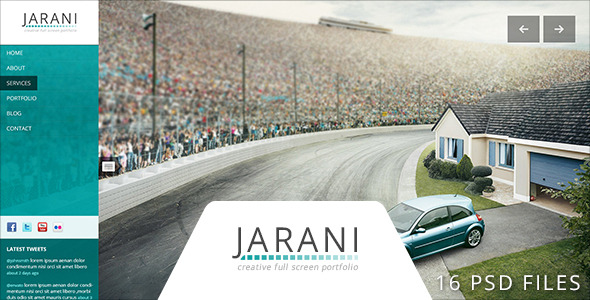 Jarani - Creative Full Screen Portfolio