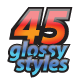 45 Glossy Styles (CS6) - GraphicRiver Item for Sale