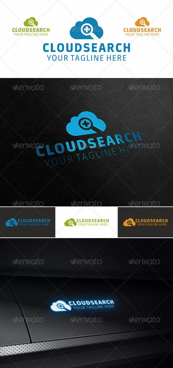 GraphicRiver Cloud Search Logo 4476011