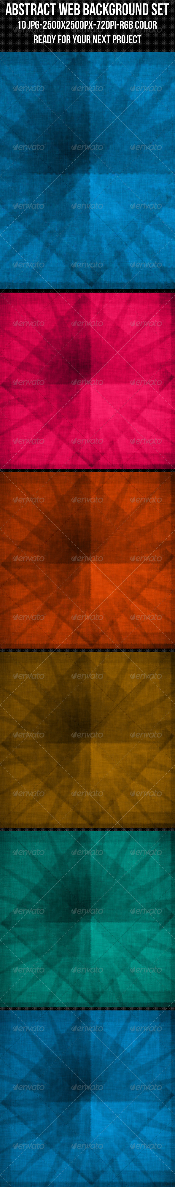 GraphicRiver Abstract Web Background Set 4476012