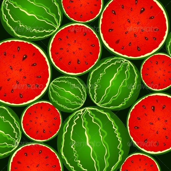 GraphicRiver Juicy Watermelon Background 4476249