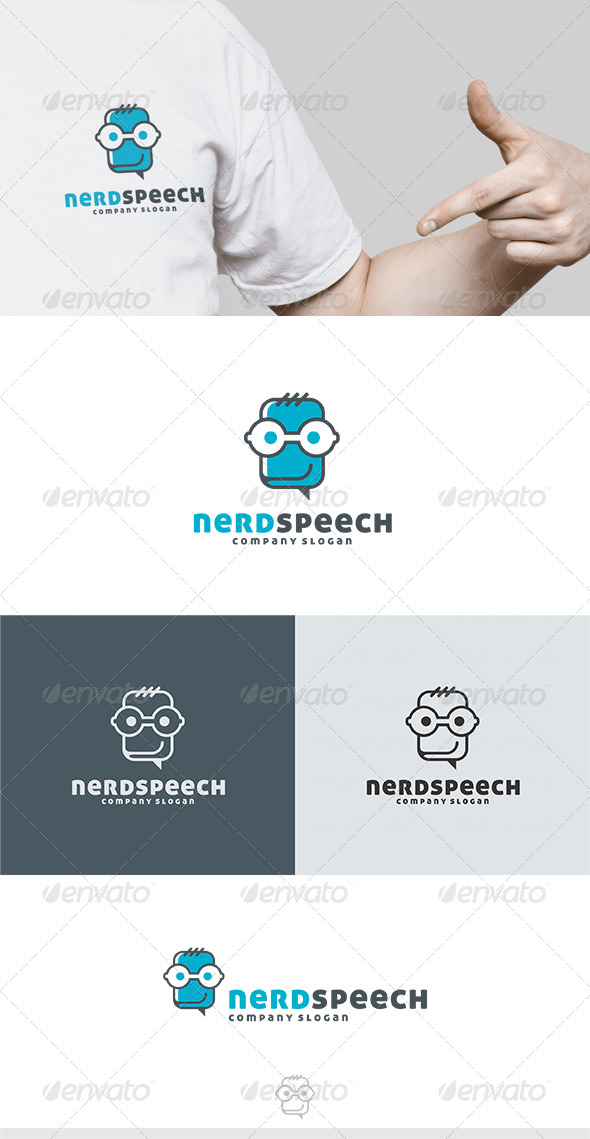 GraphicRiver Nerd Speech Logo 4476311