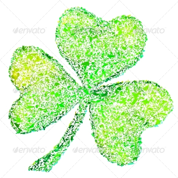 GraphicRiver Isolated Green Clover on White 4476705