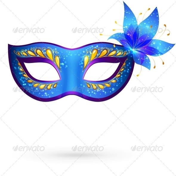 GraphicRiver Vector Venitian Carnival Mask 4476733