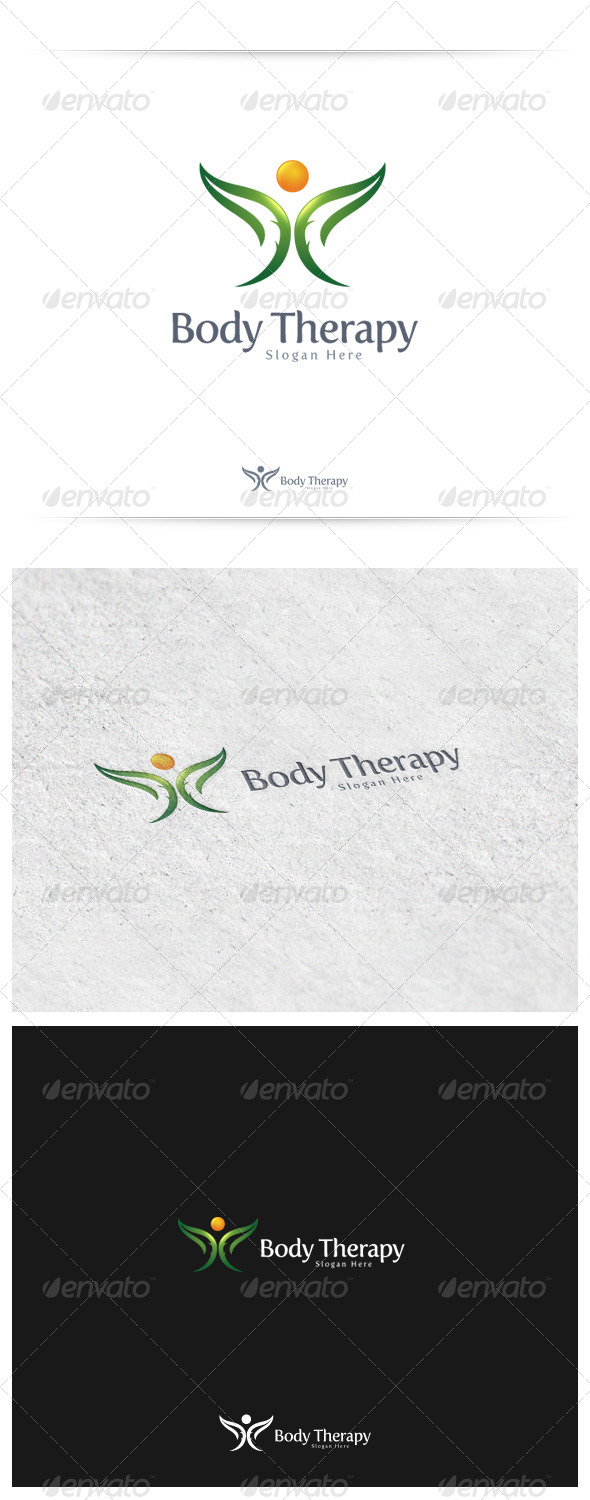 Body Therapy - Nature Logo Templates