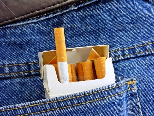 Cigarettes in Back Pocket