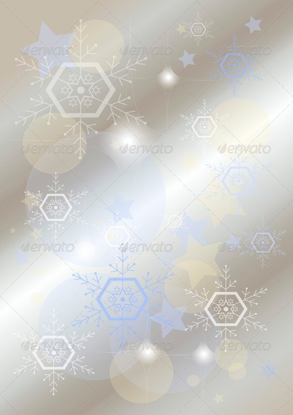Elegant Light Background with Snowflakes - Stock Photo - Images
