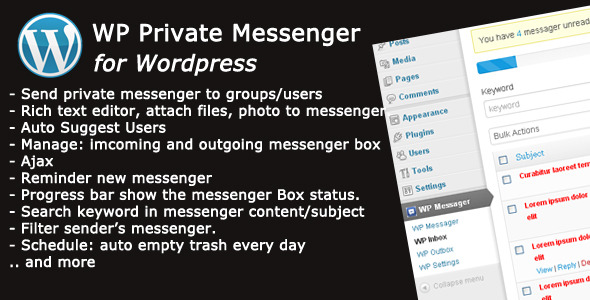 CodeCanyon WP Private Messenger Premium Wordpress Plugin 4446743