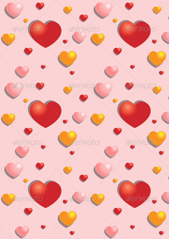 Gentle Hearts on the Pink  Background - Stock Photo - Images