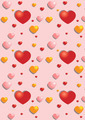 Gentle Hearts on the Pink  Background - PhotoDune Item for Sale