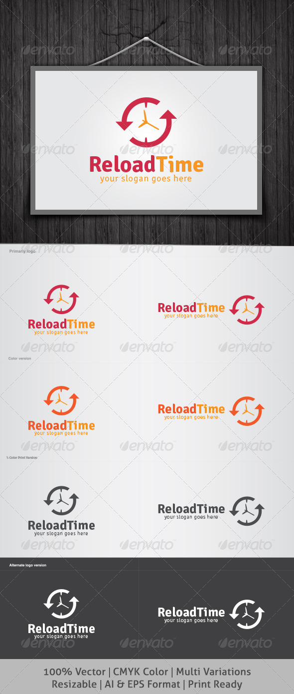 GraphicRiver Reload Time Logo 4477510