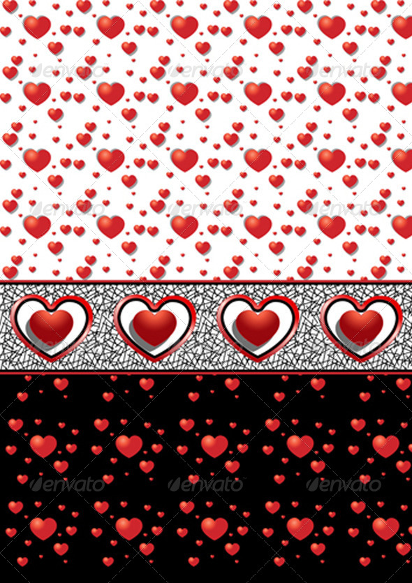 Backgrounds with Different Hearts - Stock Photo - Images