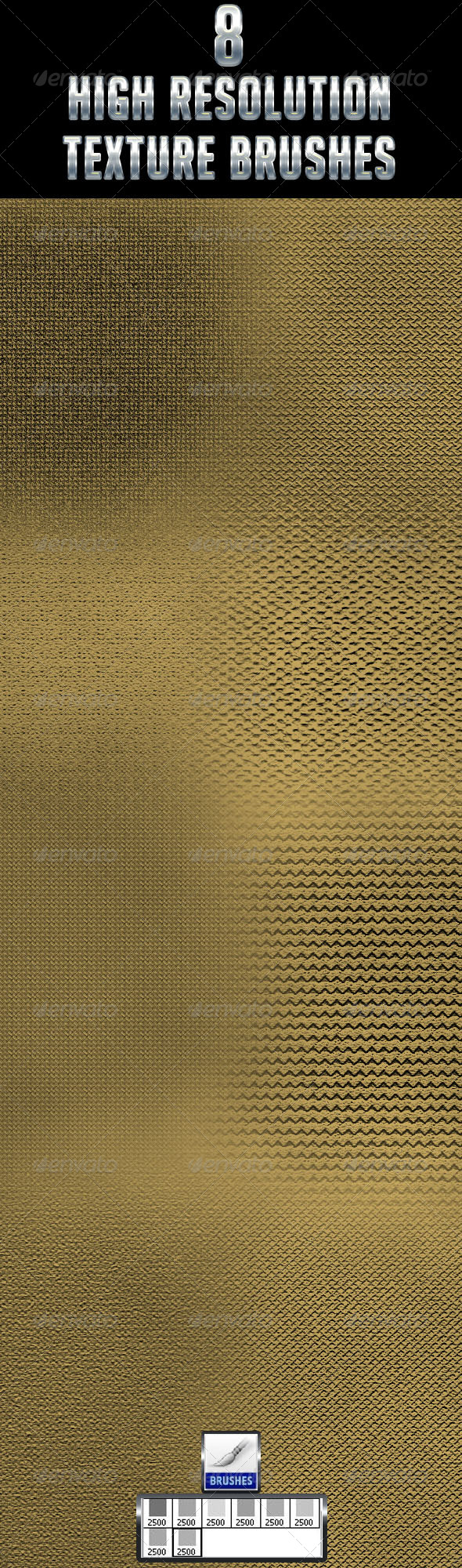 GraphicRiver 8 High Resolution Texture Brushes 4478555