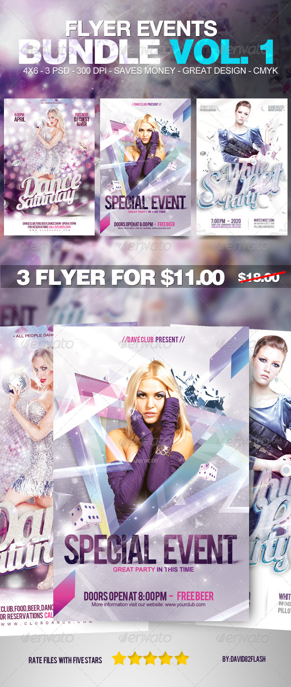 GraphicRiver Flyer Events Bundle Vol 1 4478782