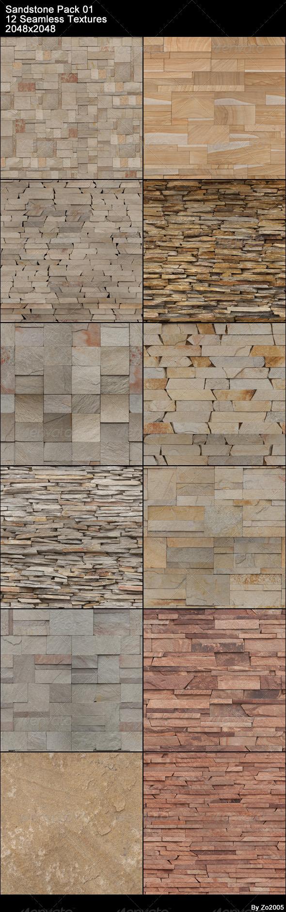 3DOcean Sandstone Pack 01 4479076