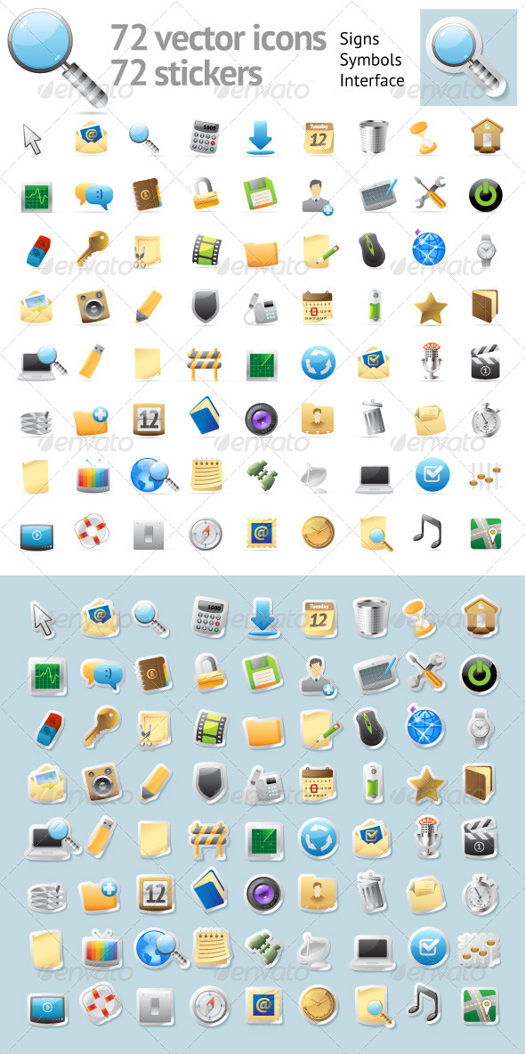 GraphicRiver Interface Icons 4479203
