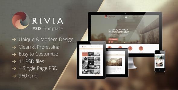 Rivia - Creative PSD Theme