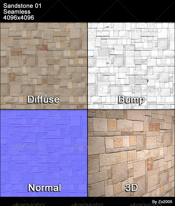 Sandstone Seamless Texture 01 - 3DOcean Item for Sale