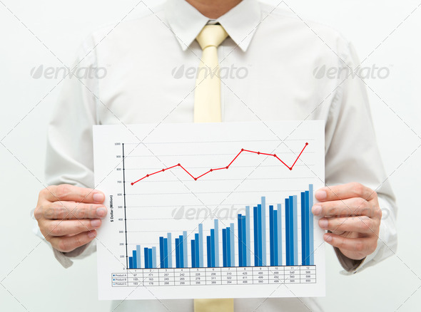 Business chart - Stock Photo - Images