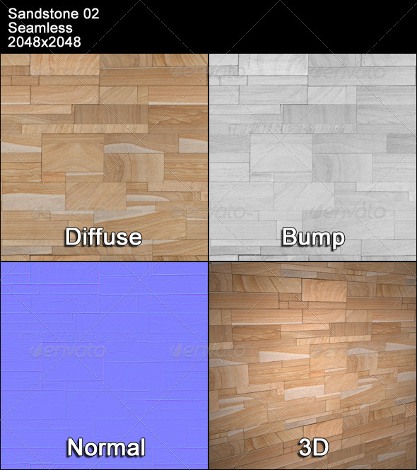 Sandstone Seamless Texture 02 - 3DOcean Item for Sale