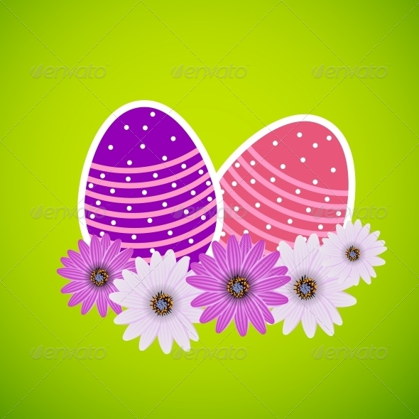 GraphicRiver Vector Paper Card with Easter Eggs 4479790