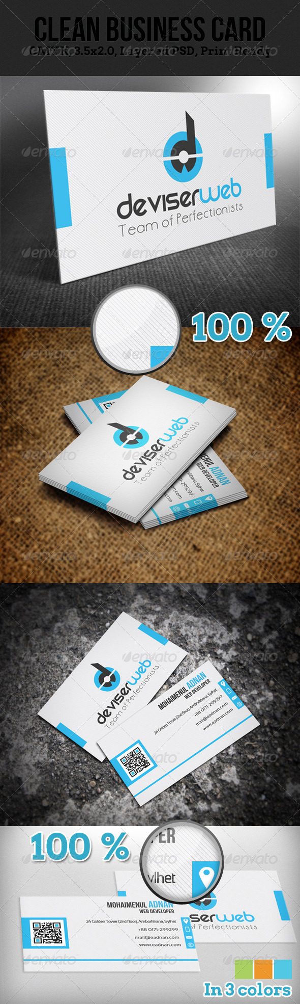 GraphicRiver Clean Business Card 4380670