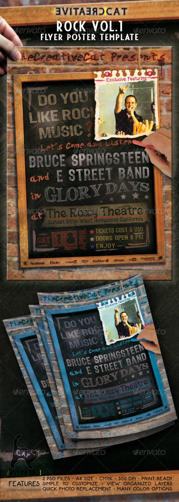 Rock Flyer/Poster - Events Flyers