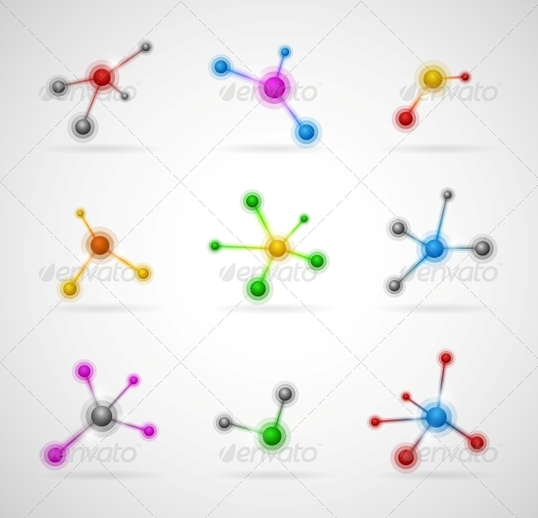 GraphicRiver Set of Molecules 4480668